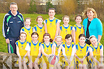 SCOIL EOIN: The Scoil Eoin basketball team taking part in the National Schools Basketball Blitz at Mercy Mounthawk on Saturday front l-r: Lauren Lenihan, Emma McCarthy, Hannah Lenihan, Rachel Bowler, Niamh Murphy, Ashling Higgins and Rebecca Ryan. Back l-r: Jimmy Diggins, Avril Fitzgerald, Lara O'Toole, Kate Kelly, Meabh Buckley, Sophie Cleary and Carmel Ryan.