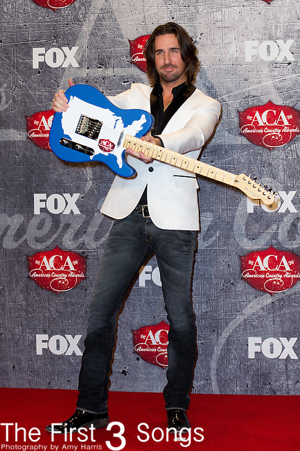 Jake Owen with the award for Breakthrough Artist of the Year in the press room at the American Country Awards 2012 at the Mandalay Bay Resort & Casion in Las Vegas, Nevada.