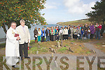Ref Sinead .Large numbers gathered at the Ceallu?nach in Kells Bay on Saturday last for the blessing of the graves and Mass, in remembrance of the babies and children who died before, during or after birth, Canon Billy Crean officiated pictured here alongside Pat Lynch who organised the event. ..Contact Pat Lynch 0863785528 or Alan Landers for more info.