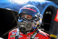 Oct. 30, 2011; Las Vegas, NV, USA: NHRA funny car driver Cruz Pedregon during the Big O Tires Nationals at The Strip at Las Vegas Motor Speedway. Mandatory Credit: Mark J. Rebilas-