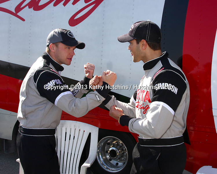 LOS ANGELES - MAR 23:  Brett Davern, Jesse Metcalfe at the 37th Annual Toyota Pro/Celebrity Race training at the Willow Springs International Speedway on March 23, 2013 in Rosamond, CA          EXCLUSIVE PHOTO