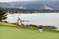 Bernd Wiesberger (AUT) looks over his putt on 8 during round 2 of the 2019 US Open, Pebble Beach Golf Links, Monterrey, California, USA. 6/14/2019.<br /> Picture: Golffile | Ken Murray<br /> <br /> All photo usage must carry mandatory copyright credit (© Golffile | Ken Murray)