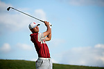 SUGAR GROVE, IL - MAY 29: Max McGreevy of the University of Oklahoma tees off during the Division I Men's Golf Individual Championship held at Rich Harvest Farms on May 29, 2017 in Sugar Grove, Illinois. (Photo by Jamie Schwaberow/NCAA Photos via Getty Images)
