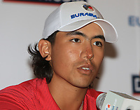 Gavin Green (Asia) during an interview after the Friday Foursomes of the Eurasia Cup at Glenmarie Golf and Country Club on the 12th January 2018.<br /> Picture:  Thos Caffrey / www.golffile.ie