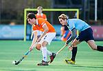 BLOEMENDAAL  - Kiet Citroen, met David Huussen (Nijmegen)  , competitiewedstrijd junioren  landelijk  Bloemendaal JA1-Nijmegen JA1 (2-2) . COPYRIGHT KOEN SUYK