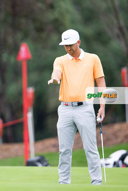 Kevin Chappell (USA) on the 10th during the 1st round of the  WGC-HSBC Champions, Sheshan International GC, Shanghai, China PR.  27/10/2016<br /> Picture: Golffile | Fran Caffrey<br /> <br /> <br /> All photo usage must carry mandatory copyright credit (&copy; Golffile | Fran Caffrey)
