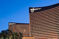 Wynn & Encore Casino Hotel Resort Las Vegas; Nevada; Resort, Hospitality, Strip; gambling; shopping, Sunrise, Blue Sky, Travel, Destination, View, Unique, Quality