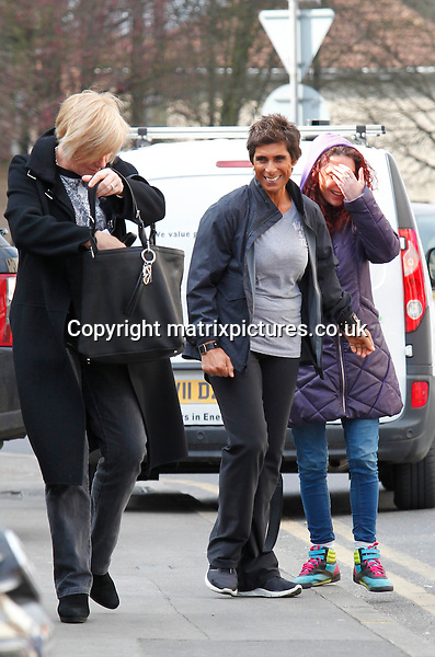 EXCLUSIVE ALL ROUND PICTURE: MATRIXPICTURES.CO.UK.PLEASE CREDIT ALL USES..WORLD RIGHTS..British former Olympic javelin thrower Fatima Whitbread is pictured out walking with a friend in Brentwood, Essex today...MARCH 28th 2013..REF: WJH 132050