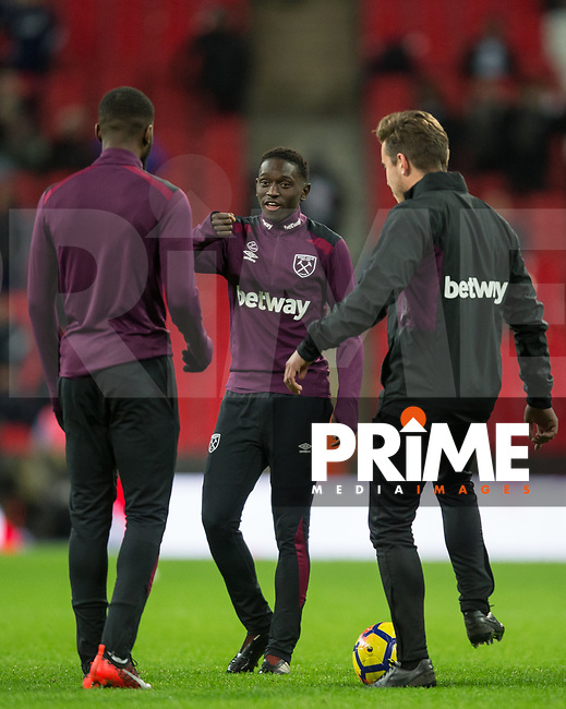 Domingos Quina of West Ham United ahead of the Premier League match between Tottenham Hotspur and West Ham United at Wembley Stadium, London, England on 4 January 2018. Photo by Andy Rowland.