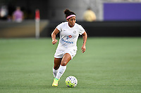 Orlando, FL - Saturday Sept. 24, 2016: Desiree Scott during a regular season National Women's Soccer League (NWSL) match between the Orlando Pride and FC Kansas City at Camping World Stadium.