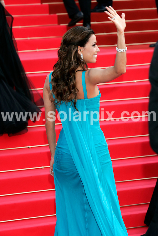 **ALL ROUND PICTURES FROM SOLARPIX.COM**.**SYNDICATION RIGHTS FOR UK AND SPAIN ONLY**.guests arrive for the 61st Cannes Film Festival opening screening. 14th May 2008..This pic: Eva Longoria..JOB REF: 6407 CPR/Hans Heinz.DATE: 14_05_2008.**MUST CREDIT SOLARPIX.COM OR DOUBLE FEE WILL BE CHARGED* *UNDER NO CIRCUMSTANCES IS THIS IMAGE TO BE REPRODUCED FOR ANY ONLINE EDITION WITHOUT PRIOR PERMISSION*