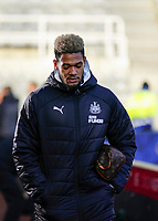 30th November 2019; St James Park, Newcastle, Tyne and Wear, England; English Premier League Football, Newcastle United versus Manchester City; Joelinton of Newcastle United arrives at St James Park - Strictly Editorial Use Only. No use with unauthorized audio, video, data, fixture lists, club/league logos or 'live' services. Online in-match use limited to 120 images, no video emulation. No use in betting, games or single club/league/player publications