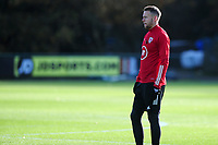 Pictured: Chris Gunter of Wales during the Wales Training Session at The Vale Resort in Cardiff, Wales, UK. Monday 11 November 2019