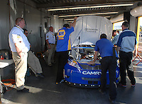 Feb 14, 2007; Daytona, FL, USA; The car of Nascar Nextel Cup driver Michael Waltrip (55) goes through tech inspection during practice for the Daytona 500 at Daytona International Speedway. Mandatory Credit: Mark J. Rebilas