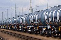 Kesselwagen der Firma GATX: EUROPA, DEUTSCHLAND, HAMBURG, (EUROPE, GERMANY), 07.03.2016: Kesselwagen der Firma GATX
