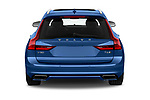 Straight rear view of a 2018 Volvo V90 R-Design AWD T6  5 Door Wagon stock images