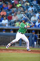 ***Temporary Unedited Reference File***Tulsa Drillers third baseman Brandon Trinkwon (8) during a game against the Arkansas Travelers on April 28, 2016 at ONEOK Field in Tulsa, Oklahoma.  Tulsa defeated Arkansas 5-4.  (Mike Janes/Four Seam Images)