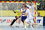 20.01.2013 Barcelona, Spain. IHF men's world championship, eighth.final. Picture show Xavier Barachet    in action during game between Island  vs France at Palau st Jordi