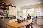 The Portland, Oregon home of Wendy Burden, author of  the memoir, Dead End Gene Pool.  Ms. Burden in her kitchen.
