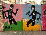 Valencia-Spain, January 13, 2018; <br /> street art / graffiti by David de Limón (Limon);<br /> Photo © HorstWagner.eu