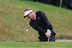 Paul Broadhurst of England plays from the bunker during the final round of the BMW PGA Championship on the 27th of May 2007 at the Wentworth Golf Club, Surrey, England. (Photo by Manus O'Reilly/NEWSFILE)