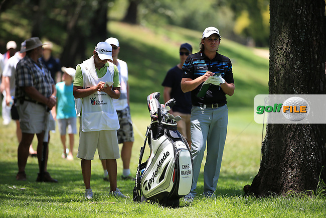 Chris Hanson (ENG) finds the trees and the rough down the 2nd  during Round Three of the 2016 BMW SA Open hosted by City of Ekurhuleni, played at the Glendower Golf Club, Gauteng, Johannesburg, South Africa.  09/01/2016. Picture: Golffile | David Lloyd<br /> <br /> All photos usage must carry mandatory copyright credit (&copy; Golffile | David Lloyd)
