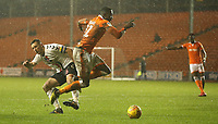 Blackpool's Joe Dodoo avoids the challenge from Charlton Athletic's Jason Pearce<br /> <br /> Photographer Stephen White/CameraSport<br /> <br /> The EFL Sky Bet League One - Blackpool v Charlton Athletic - Saturday 8th December 2018 - Bloomfield Road - Blackpool<br /> <br /> World Copyright &copy; 2018 CameraSport. All rights reserved. 43 Linden Ave. Countesthorpe. Leicester. England. LE8 5PG - Tel: +44 (0) 116 277 4147 - admin@camerasport.com - www.camerasport.com