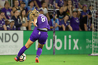Orlando, FL - Saturday August 12, 2017: Danica Evans during a regular season National Women's Soccer League (NWSL) match between the Orlando Pride and Sky Blue FC at Orlando City Stadium.