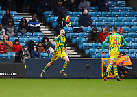 9th February 2020; The Den, London, England; English Championship Football, Millwall versus West Bromwich Albion; Dara O'Shea of West Bromwich Albion celebrates after scoring his sides 2nd goal in the 84th minute to make it 0-2