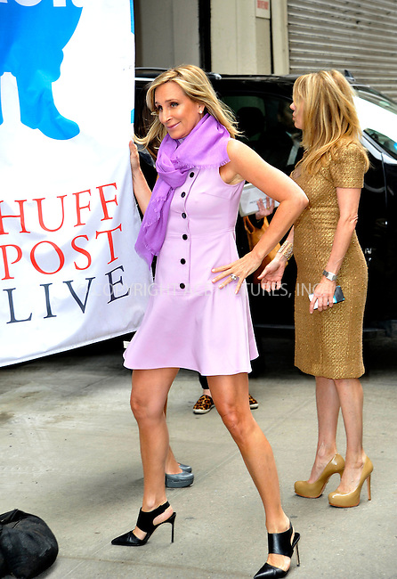 WWW.ACEPIXS.COM<br /> <br /> April 7 2015, New York City<br /> <br /> Reality TV stars Sonja Morgan (L) and Ramona Singer made an appearance at HuffPost Live on April 7 2015 in New York City<br /> <br /> By Line: Curtis Means/ACE Pictures<br /> <br /> <br /> ACE Pictures, Inc.<br /> tel: 646 769 0430<br /> Email: info@acepixs.com<br /> www.acepixs.com
