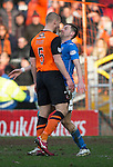 Dundee United v St Johnstone.....21.02.15<br /> Jaroslaw Fojut squares up to Steven MacLean<br /> Picture by Graeme Hart.<br /> Copyright Perthshire Picture Agency<br /> Tel: 01738 623350  Mobile: 07990 594431