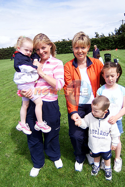 Aoife and Brigid Russell,Anne Marie,Nionl,and Sean Mullarkey,at The Fun Day in Oliver Plunkets GAA Pitch...Pic Newsfile