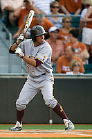 Arizona State Sun Devil shortstop Deven Marrero #17 at bat against the Texas Longhorns in NCAA Tournament Super Regional Game #3 on June 12, 2011 at Disch Falk Field in Austin, Texas. (Photo by Andrew Woolley / Four Seam Images)