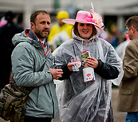 LOUISVILLE, KY - MAY 05: A fan walks around with their Oaks Lily on Kentucky Oaks Day at Churchill Downs on May 5, 2017 in Louisville, Kentucky. (Photo by Scott Serio/Eclipse Sportswire/Getty Images)