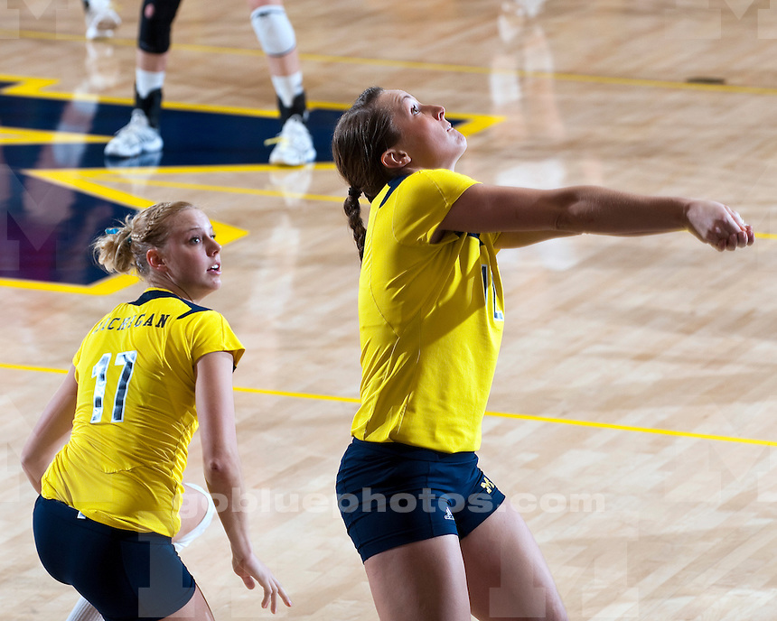 University of Michigan volleyball 3-0 victory over Indiana University at Cliff Keen Arena in Ann Arbor, MI, on November 20, 2010.