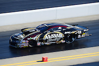 Apr. 13, 2012; Concord, NC, USA: NHRA pro mod driver Mike Castellana during qualifying for the Four Wide Nationals at zMax Dragway. Mandatory Credit: Mark J. Rebilas-