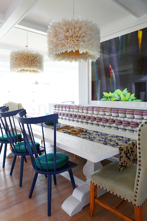modern colorful dining set