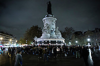 Paris, Frankrike, 15.11.2015. Place de la Republique. Images from Paris in the aftermath of the devastating terror attacks on friday november 13. Photo: Christopher Olssøn.