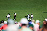 Kevin Tway (USA)  and Kevin Na (USA) on the 2nd fairway during Wednesdays preview at the The Masters , Augusta National, Augusta, Georgia, USA. 10/04/2019.<br /> Picture Fran Caffrey / Golffile.ie<br /> <br /> All photo usage must carry mandatory copyright credit (&copy; Golffile | Fran Caffrey)