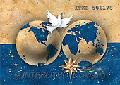 Isabella, CHRISTMAS SYMBOLS, corporate, paintings, 2 earth balls, doves(ITKE501178,#XX#) Symbole, Weihnachten, Geschäft, símbolos, Navidad, corporativos, illustrations, pinturas