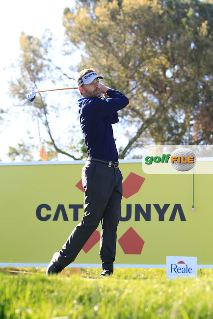 Raphael Jacquelin (FRA) on the 13th tee during Thursday's Round 1 of The Open De Espana at The PGA Catalunya Resort. 15th May 2014.<br /> Picture:  Thos Caffrey / www.golffile.ie