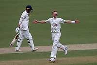 Tom Curran of Surrey celebrates taking the wicket of Tom Westley during Surrey CCC vs Essex CCC, Specsavers County Championship Division 1 Cricket at the Kia Oval on 12th April 2019