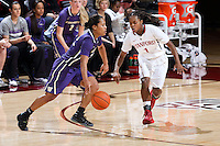 STANFORD, CA - February 27, 2014: Stanford Cardinal's Lili Thompson during Stanford's 83-60 victory over Washington at Maples Pavilion.