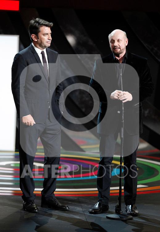 Actor Arturo Vals and direcror Juan Jose Campanella during the 61st San Sebastian International Film Festival's opening ceremony, in San Sebastian, Spain. September 20, 2013. (ALTERPHOTOS/Victor Blanco)