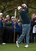 23.09.2014. Gleneagles, Auchterarder, Perthshire, Scotland.  The Ryder Cup.  Thomas Bjorn (EUR) on the 11th Tee during his practice round.