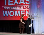 First Lady Anita Perry thanks Mayor Annise Parker for opening the Eleventh Annual Texas Conference for Women