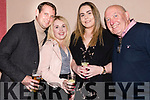 Dara Hurlihy, Leona Spilane, Hannah Hennessy and Don Murphy enjoying David Geaney's Velocity show at the Hillgrow in Dingle on Friday night.