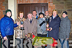 "MAINCUP: Winner of the Kingdom Cup at Tralee Coursing on Thursday at Ballybeggan Racecourse was Castlemartyr whose owner was presented with the main prize of the day the ""Kingdom Cup"". Pictured l-r: Barry Connolly, Helen Murphy, Pa Fitzgerald (trainer), John Keane, Catherine Grace (owner), Eoin Browne, Ena Galvin who presented the Cup and Ciara Grace.   Copyright Kerry's Eye 2008"