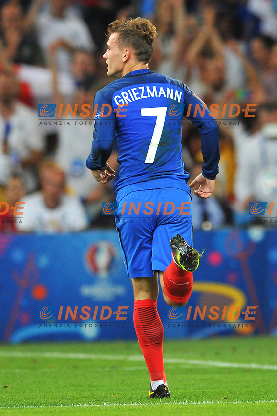 Esultanza Gol rigore Antoine Griezmann (France) goal penalty celebration<br /> Marseilles 07-07-2016 Stade Velodrome Football Euro2016 Germany - France / Germania - Francia Semi-finals / Semifinali <br /> Foto Philippe LECOEUR Panoramic / Insidefoto
