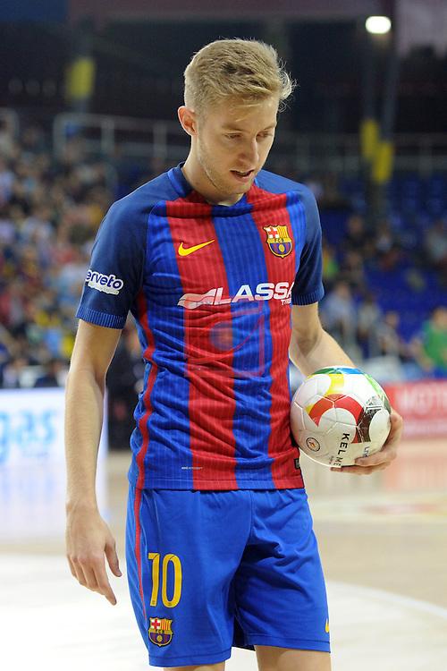 League LNFS 2016/2017 - Game 4.<br /> FC Barcelona Lassa vs Gran Canaria FS: 4-2.<br /> Bateria.